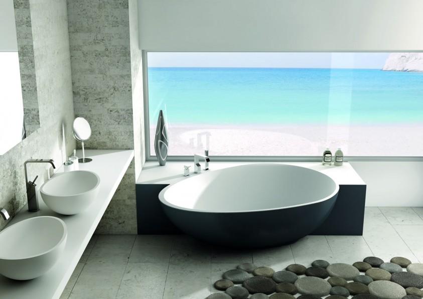 badewannen, becken und whirlpools - linea bagno trento - Moderne Badewanne Eingemauert